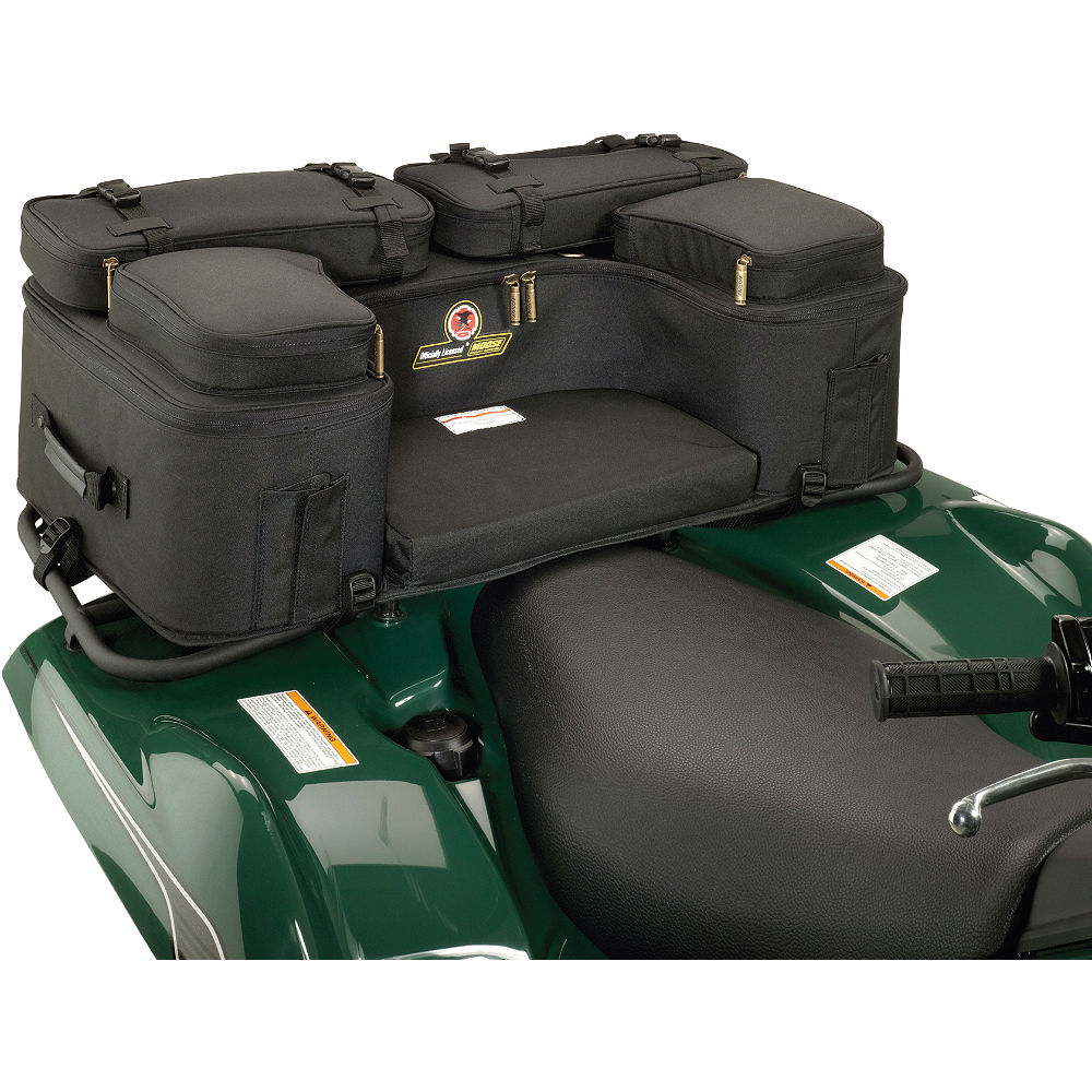 moose black caliber utility atv rear rack bag four 4