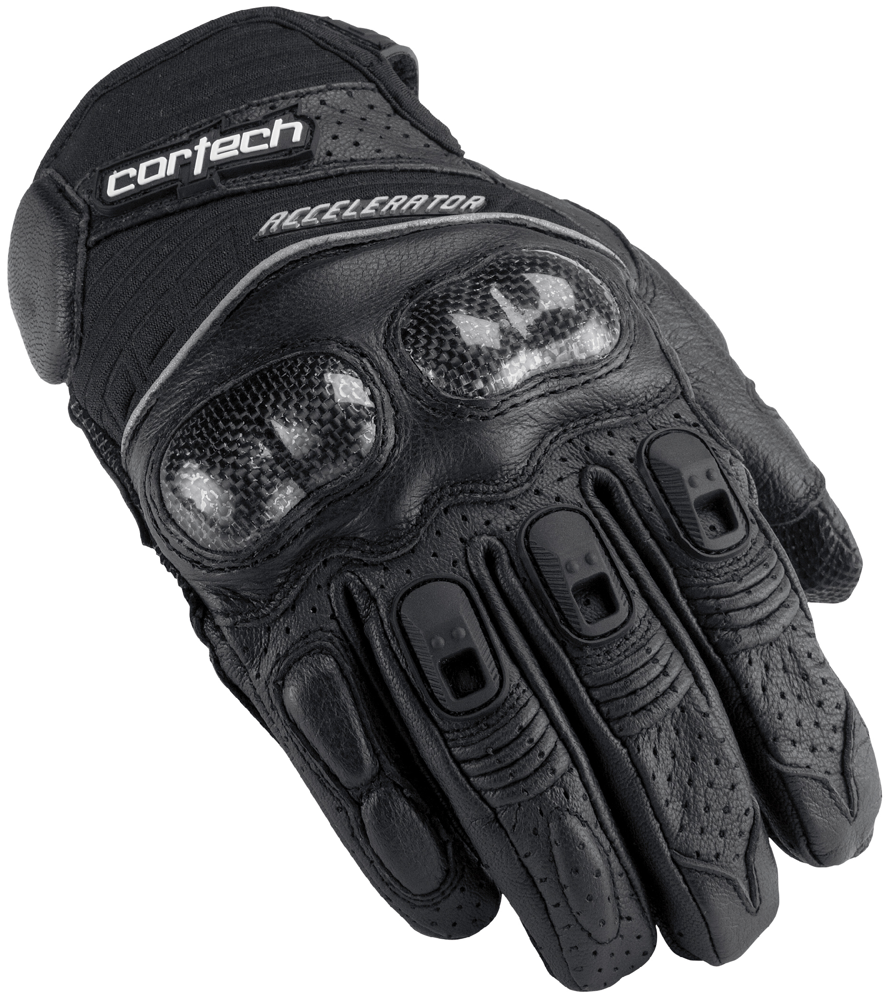 Mens black leather gloves xl - Cortech Black Mens Xl Accelerator Series 3 Leather Motorcycle Gloves Extra Large