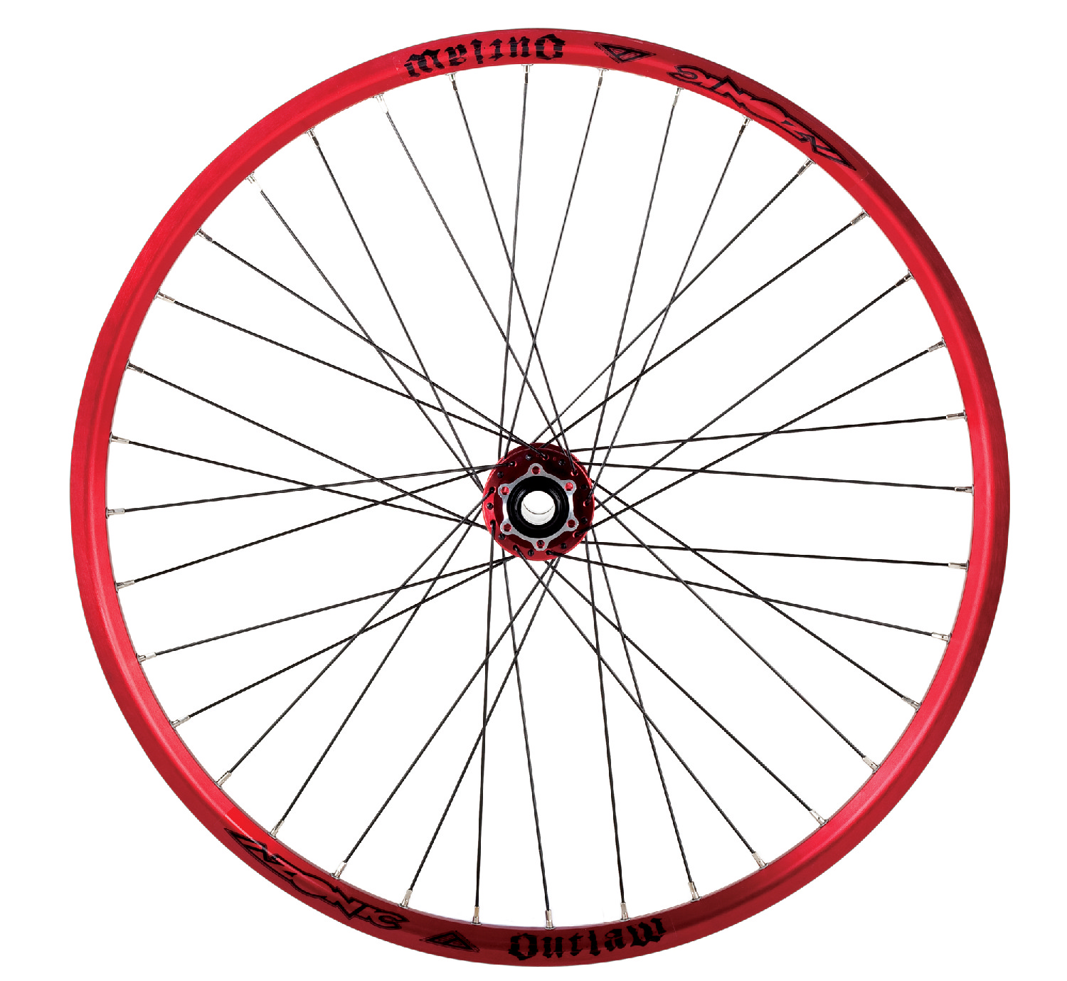 Azonic Anodized Red Outlaw 150mm Bicycle Rim Mountain Bike ...